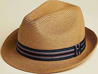 Ted Baker Straw Trilby Hat in Natural ELITE, Mens Accessories