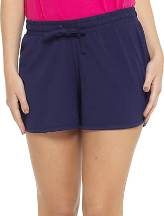 Tom Franks Ladies Cotton Rich Jersey Shorts Blue 16-18