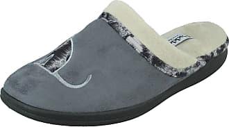 Padders Womens Misty Open Back Slippers, Grey (Grey 99), 4 (37 EU)