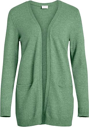 Vila Womens VIRIL L/S Open Knit Cardigan-NOOS Sweater, Loden Frost, Detail:Melange, XL