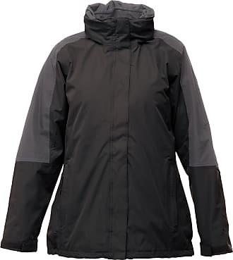 Regatta Womens/Ladies Defender III 3-in-1 Jacket (Waterproof & Windproof) (20) (Black/Seal Grey)