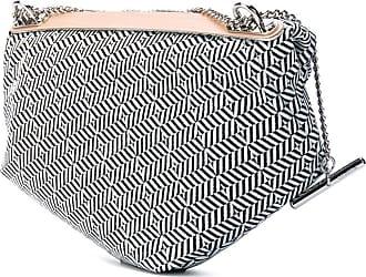 Côte & Ciel Aude Herringbone Weave Sling Bag   Black/White