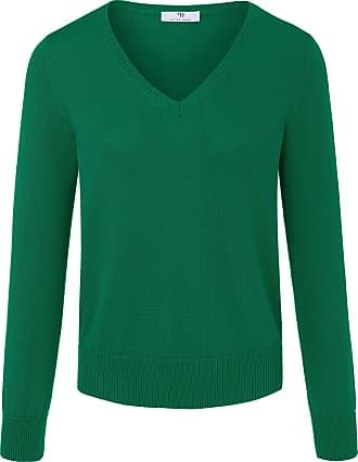 Peter Hahn V-neck jumper in 100% SUPIMA cotton Peter Hahn green