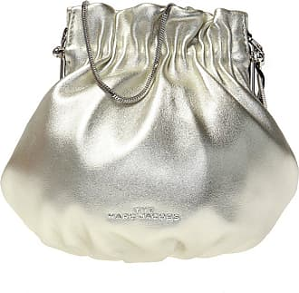Marc Jacobs Silver Logo Strap Snapshot Metallic Camera Bag