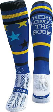 Wackysox Wacky Sox Here Comes The Boom Junior - Blue 2-6