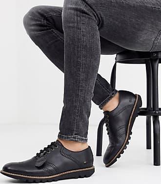 Kickers mens kymbo leather brogue shoe in black