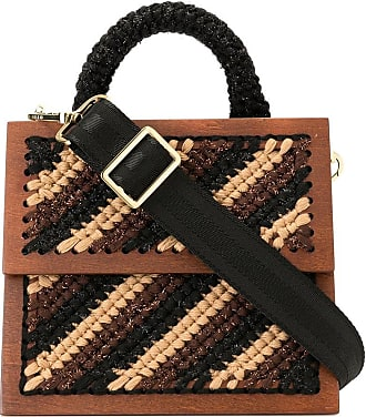0711 Striped Copacabana bag - Brown