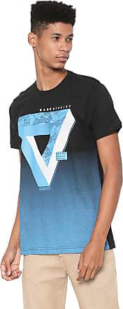 Gangster Camiseta Gangster Estampada Preta