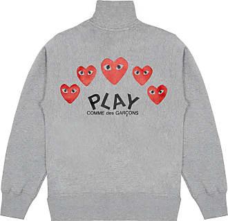 Comme Des Garçons Comme des Garçons Sweatshirt mit 5 Herzen (Grau) - M. - Grey