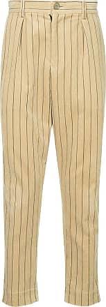 Yoshiokubo corduroy striped trousers - Neutrals