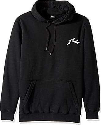 Rusty Mens Original Logo Fleece Hoodie Traditional Fit Sweatshirt, Competition Black, Small