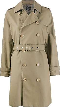 A.P.C. Trench coat com abotoamento duplo - Verde