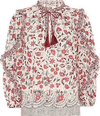 Ulla Johnson Azalea floral cotton blouse