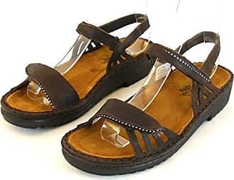 Naot Damen Schuhe Sandaletten Anika kupfer metallic 12039 Leder Wechselfußbett