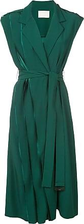 Jason Wu Vestido midi transpassado - Verde