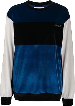 Koché Moletom color block - Azul