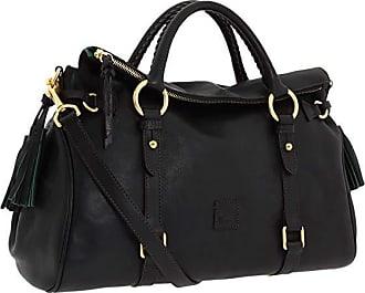 Dooney & Bourke Florentine Vachetta Satchel (Black/Black Trim) Handbags