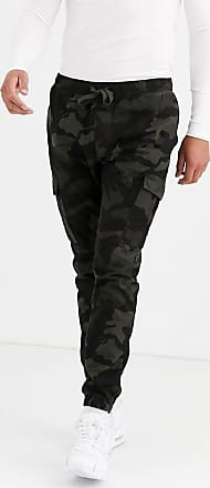 Brave Soul Cargo-Hose mit Military-Muster-Grün