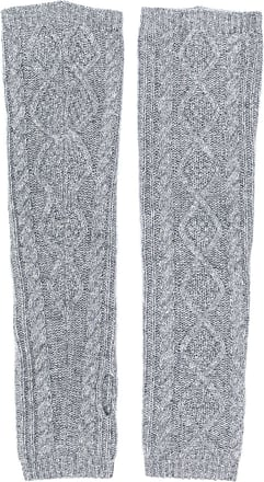 Pringle Of Scotland cable knit wrist warmers - Grey