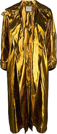 Forte_Forte metallic oversized coat - GOLD