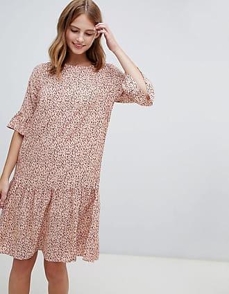 Ichi Bedrucktes Kleid mit tief angesetzter Taille-Mehrfarbig