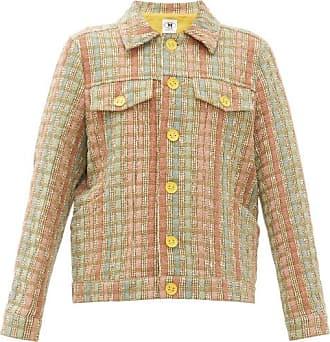 M Missoni Boxy Upcycled Checked Jacquard Jacket - Womens - Khaki Multi