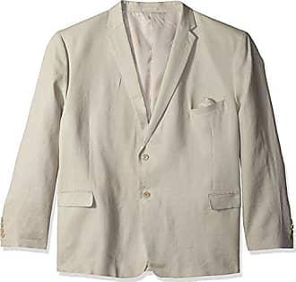 U.S.Polo Association Mens Big and Tall Linen Suit, tan, 58 Regular