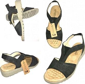 Cushion-Walk Women Black Orthopedic Diabetic Massage Therapy Sandal Mule Slip on Flexible Shock Cozy Wedge Shoe (UK 5)