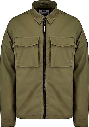 Weekend Offender Pileggi Overshirt - Dark Khaki (Extra Large)