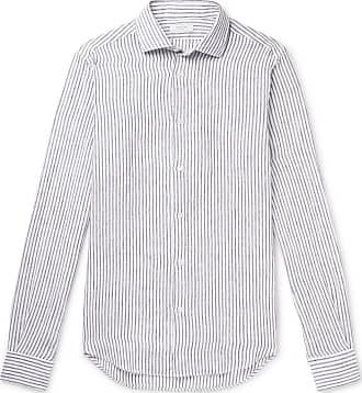 Striped Long Linen Shirt Dam