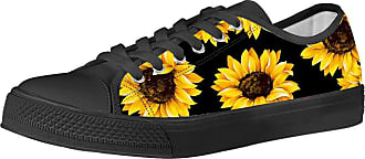Coloranimal Spring&Autumn Women Casual Shoes Sport Gym Korean Ourdoor Vulcanize Low-top Canvas Flats Walking Footwear -Sunflower EU46