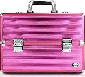 Jacki Design Maleta Profissional de Maquiagem G Beauty Alumínio ABS Pink - Jacki Design