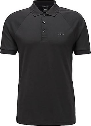 BOSS Slim-fit polo shirt in stretch-piqué with S.Café