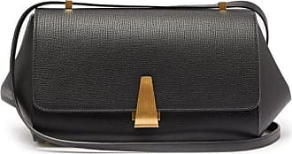 Bottega Veneta Bv Angle Grained-leather Shoulder Bag - Womens - Black