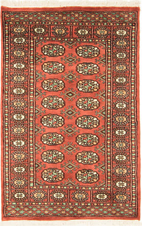 Nain Trading 124x81 Oriental Pakistan Buchara 3ply Rug Brown/Pink (Wool, Pakistan, Hand-Knotted)