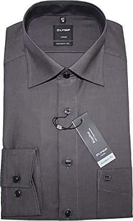 OLYMP Herren Hemden Modern Fit Langarm anthrazit