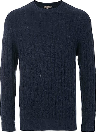 N.Peal The Thames cable knit jumper - Blue