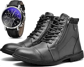 Juilli Bota Coturno Com Relógio Masculino JUILLI Adventure R504DB Tamanho:37;cor:Preto;gênero:Masculino