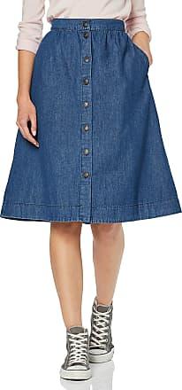 Vero Moda Womens Vmflavia Mr Button Midi Skirt, Blue (Medium Blue Denim Medium Blue Denim), 20 (Size: Small)