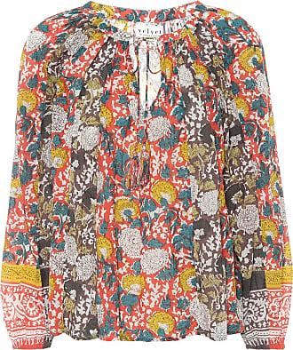 Velvet Paz floral cotton top