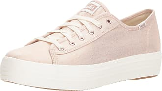Keds Womens TPL Kick Metallic Linen Rose Sneaker, Gold Gold 35, 5 UK