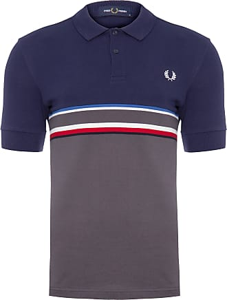 Fred Perry POLO MASCULINA CHEST STRIPE - AZUL