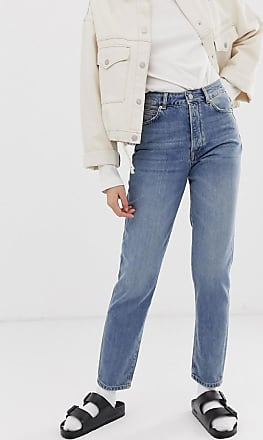 Selected Femme straight leg authentic denim jeans-Blue