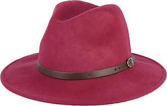 Hat To Socks Wool Fedora Felt Trilby Hat (Ruby red, 57 cm)
