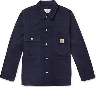 Carhartt Work in Progress Og Classic Chore Cotton-canvas Jacket - Navy