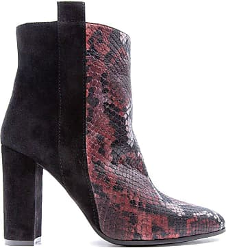 Via Roma 15 Fashion Woman 3191ANACONDAROSSOVELNERO Red Leather Ankle Boots | Fall Winter 19
