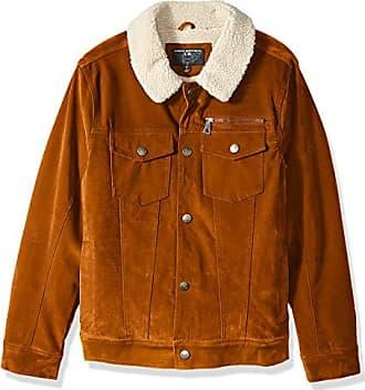 Urban Republic Mens Boys Trendy Pu Suede Jacket, Dijon Mustard, S