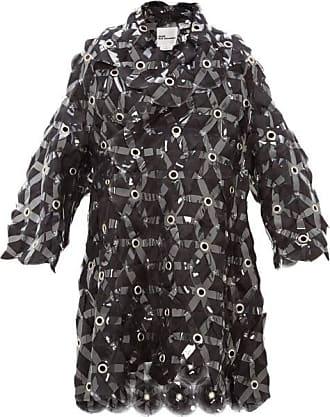Comme Des Garçons Tulle-embroidered Evening Coat - Womens - Black