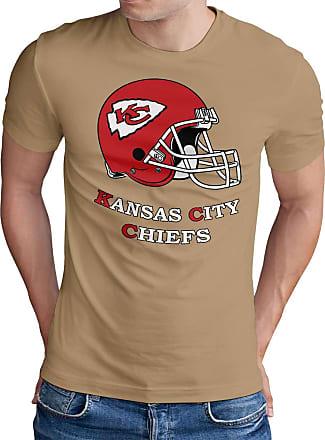 OM3 Kansas City Football - T-Shirt | Mens | American Football Shirt | XXL, Khaki