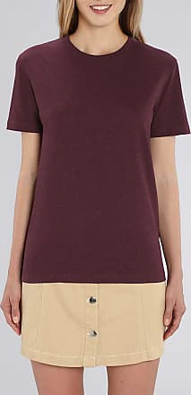 Made in Bio Tee shirt manches courtes col rond coton bio prune chiné XXL - Holbox